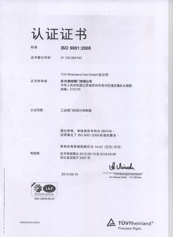 ISO 9001-2008 Chineas